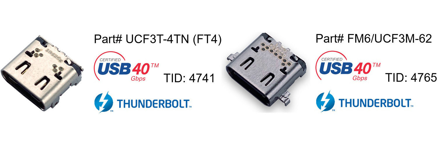 Argosy Type-C USB4 and Thunderbolt 4 ceritified parts